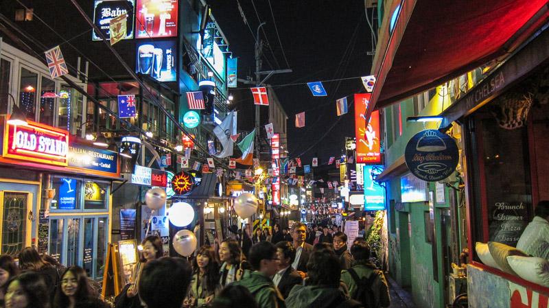 places to meet korean girls in seoul itaewon